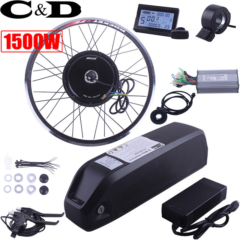 Cheap Free Shipping 1500W E-bike Electric Bike Conversion kit Driect Drive Motor MXUS 48V 52V 13AH 17AH Hailong Battery LCD 0
