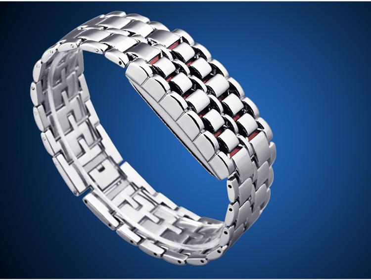 Aidis youth sports watches waterproof electronic second generation binary LED digital men's watch alloy wrist strap watch 29