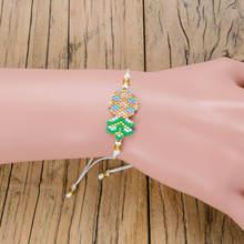Shinus 10pcs/lot Pineapple Pulseras Delica MIYUKI Bracelet Boho Bracelets Jewelry Friendship Rope Handmade 2019 Women Bileklik