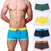 Cozy 5 Colors Sexy Men Beach Boxers Shorts Swimwear Underwear Boxer Swim Trunks M-XL 43BP