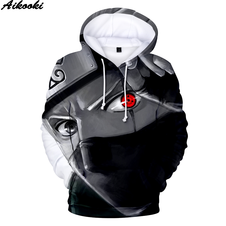 Aikooki Hot Naruto Hoodies Men Women Pullovers 3D Hooded Oversized Harajuku Sweatshirts Naruto 3D Hoodies Men's Sweatshirt Anime