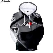 Aikooki Горячая Аниме Наруто толстовки мужские женские зимние пуловеры 3D с капюшоном оверсайз кофты Наруто 3D толстовки мужские топы XXS 4XL