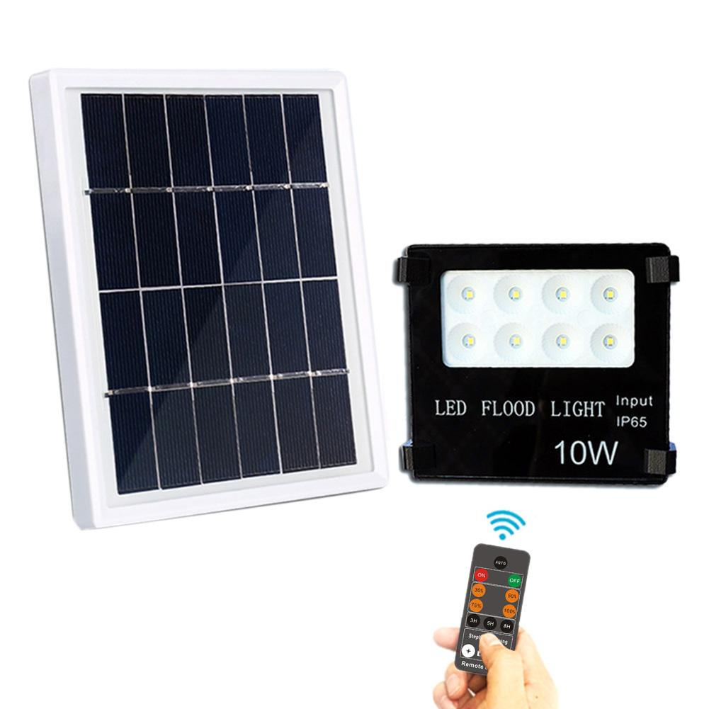 Super Bright LED Solar Wall Light 10W Aluminum Garden Wall Spot Lamp Remote Control Led Flood light With 18650 lithium battery цена