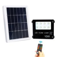Super Bright LED Solar Wall Light 10W Aluminum Garden Wall Spot Lamp Remote Control Led Flood light With 18650 lithium battery