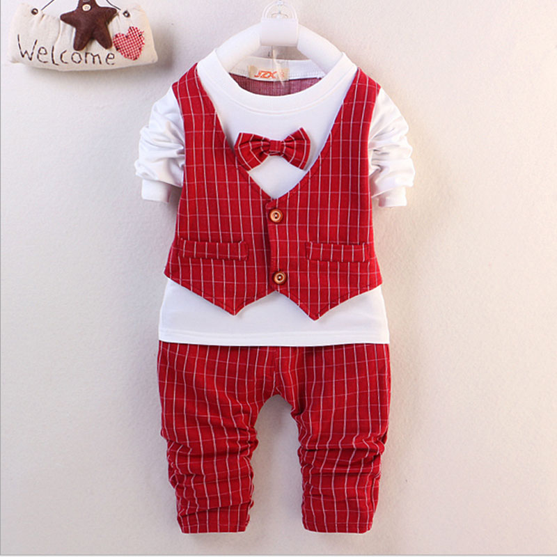 0-2Y 2017 spring autumn boy baby clothes brand long-sleeved leisure suit for baby boys gentleman design sports suit clothes sets