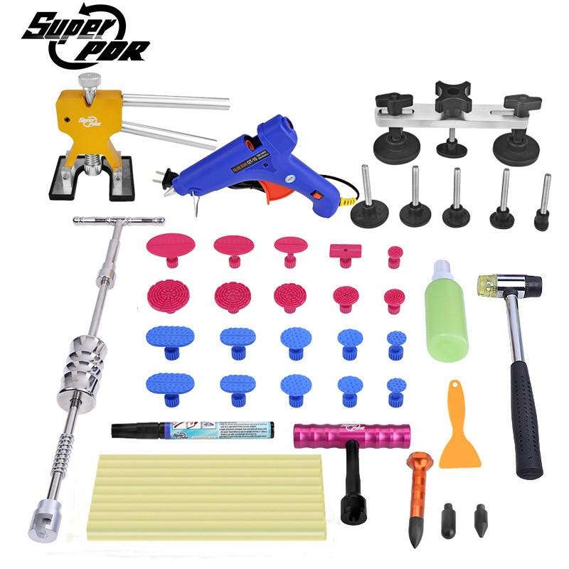 PDR Dent repair Tools kit dent lifter dent puller T-bar Scratches repair pen Paintless Dent removal hand tools цены