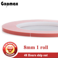 1x 8mm 20M 0 25mm Thermally Conductive Adhesive Transfer Tapes For LED Module Chip Transistor PCB