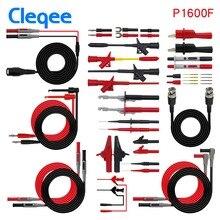 Cleqee P1600E/F 18 in 1 Pluggable Multimeter probe test leads kit automotive probe set IC Test hook Fluke BNC-Test cable