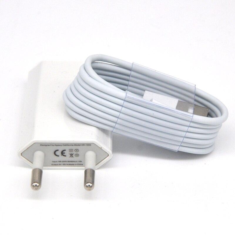 GEUMXL качество ЕС Стандартный Путешествия Дом стены AC Зарядное устройство адаптер 8 pin данных Зарядное устройство кабель для iPhone 8 7 6 6 s 6 S плюс 5...