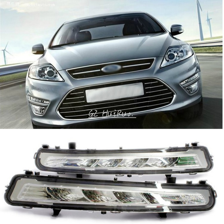 ФОТО For 2011~2013 Ford MONDEO 2x LED DRL Driving Daytime Running Day Fog Lamp Light