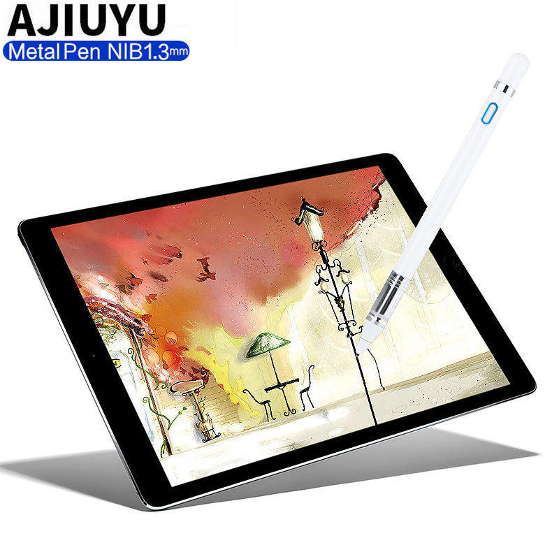 Active Stylus Pen Touch Capacitive Screen Case For IPad 4 3 2 Pro Air Ipad4 IPad3 IPad2 5 6 Tablets Pencil 1.3mm High Precision