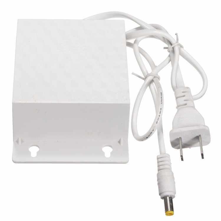 12 V 2A DC AC wodoodporny zasilacz na świeżym powietrzu 5.5mm x 2.5mm do kamery bezpieczeństwa CCTV LED taśmy