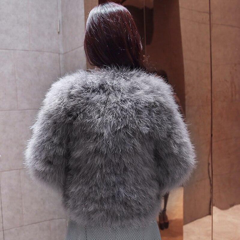 22550abfb3506 Winter Women Coat Faux Ostrich Fur Coats Ladies Shaggy Coat Long Sleeve  Fluffy Turkey Feather Fourrure Female Plus Size 3XL Q4-in Faux Fur from  Women s ...