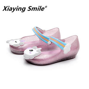 Sandals Unicorn Kids Jelly-Shoes Rubber-Bottom Baby-Boys-Girls Children Summer Smile