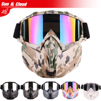 Sun Cloud Retro Harley Tactical Mask New Version Harley Goggle Glasses For Nerf Toy Gun Game