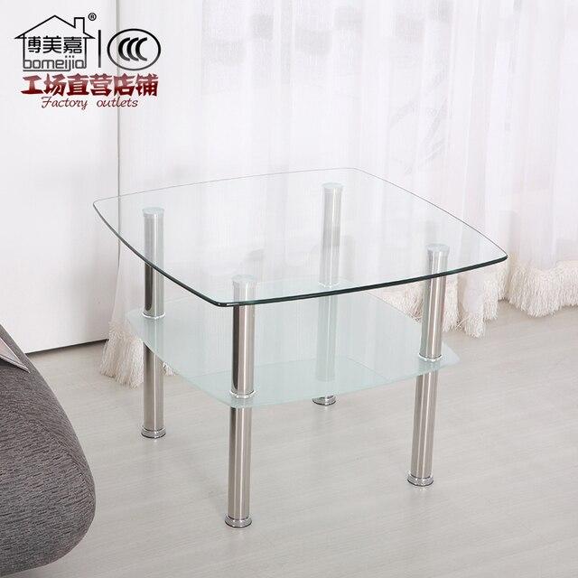 Barato vidrio más grueso sofá lado unos pocos esquina móvil pequeña ...
