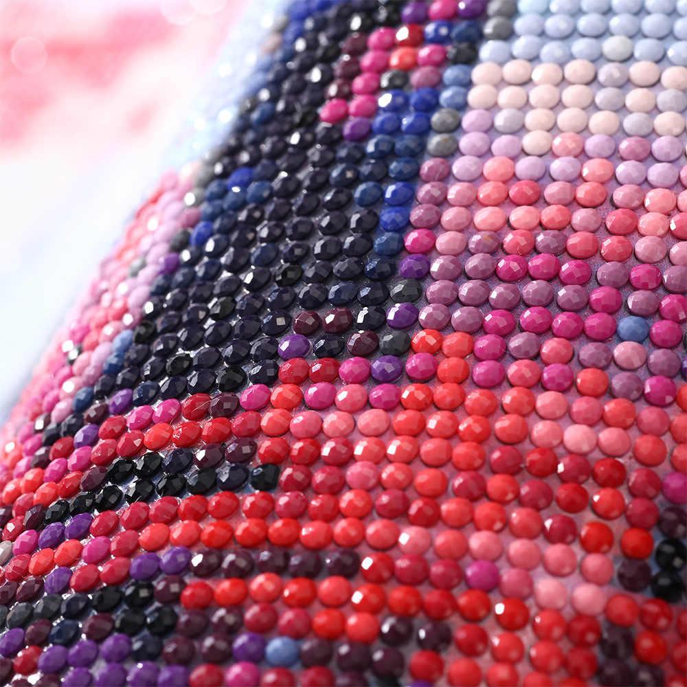 Diament haft księżniczka jazdy koni 5d obraz diamentowy DIY kryształ pełna Rhinestone okrągły diament mozaika do dekoracji domu rzemiosło