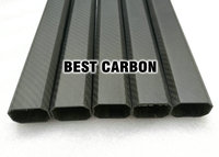 25mm X 38mm X 420mm High Quality Octagonal 3K Carbon Fiber Fabric Wound Winded Woven Tube