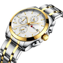 BIDEN Top Brand Luxury Casual Men Watches Military Sport Mens Business Gold Quartz Watch Male Stainless Steel Wristwatch Clock цена