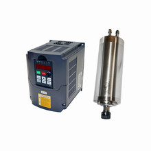 цена на 800W water cooled Spindle CNC cutting Motor ER11 collet Milling Kit with 1500w Inverter VFD 65mm engraving pack