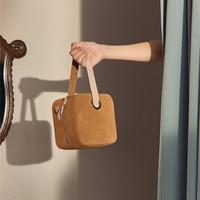 Luxury Scrub Panelled Women Handbags Purse Square box women bags designer Leather Soild color shoulder Messenger bag Tote Bolsa
