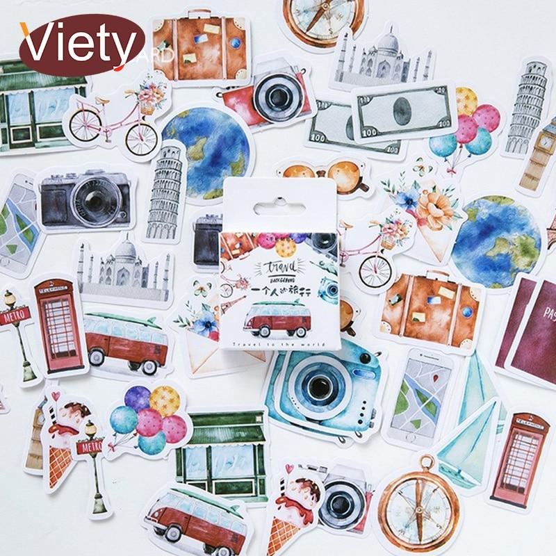 45 Pcs/box Gift Of Life Creative Mini Paper Sticker Decoration DIY Diary Scrapbooking Seal Sticker Kawaii Stationery