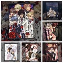 Knight vampiro kuran kaname yuki kiryu zero anime mangá parede cartaz rolo b