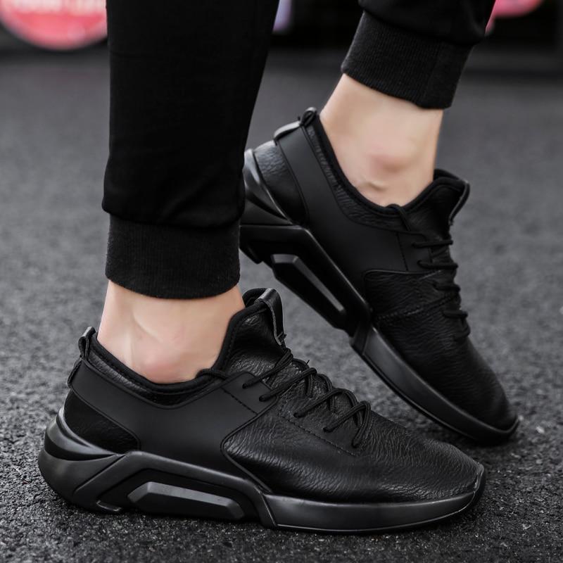 UNN New Arrivals Men Running Shoes White PU Былғары - Кроссовкалар - фото 5