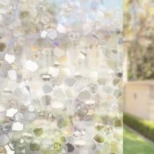 3D Laser Privacy Window PVC Film Decorative Glass Sticker Frosted Opaque Electrostatic bathroom door Home Decor 45/60*300cm