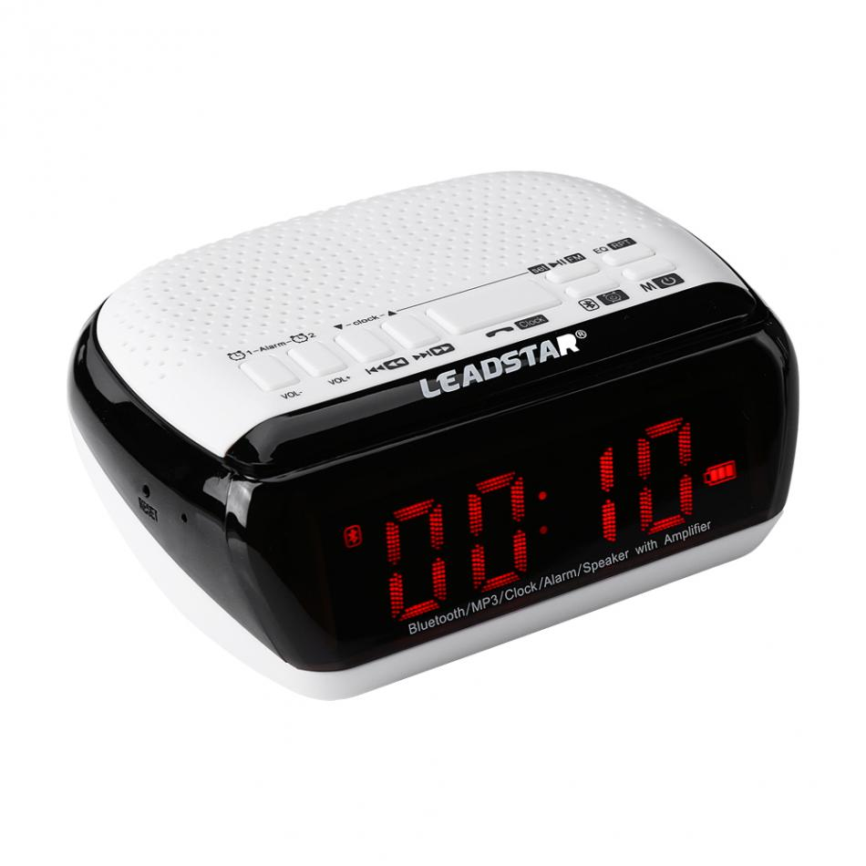 fm radio speaker bluetooth wireless speaker audio alarm clock mp3 music player with led screen. Black Bedroom Furniture Sets. Home Design Ideas