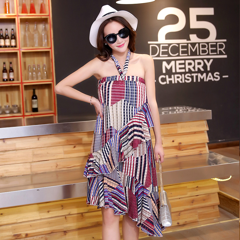 85f09218a2ade Stripes Tube Top Maternity Beach Dress Plus Size 5XL Maternity Clothes  Bohemian Pregnancy Clothing for Pregnant Women Summer-in Dresses from Mother  & Kids ...