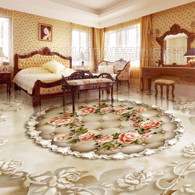 Free shipping Butterfly Flying Rose Wreath Marble floor 3d floor home decoration self-adhesive mural baby room wallpaper free shipping home decoration self adhesive mural baby room wallpaper 3d pattern simplicity ceiling floor painting