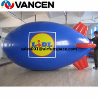 Customized inflatable advertising helium balloon blimp airship balloons outdoor 4mL inflatable helium airplane balloon