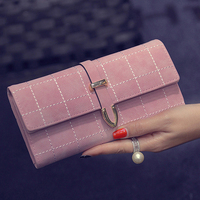 100pcs Lot Women Wallets Clutches Evening Bag Female Phone Pocket Femininas Folded Money Bag Phone Card