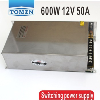 600W 12V 50A output 110V input Single Output Switching power supply for LED Strip light AC to DC