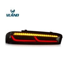 VLAND фабрики для автомобиля лампы хвоста для Chevrolet Camaro светодио дный фонарь 2015 2016 2017 2018 Camaro с светодио дный перемещение сигнальная задняя подсветка
