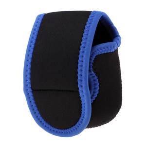 Image 2 - Baitcasting Reel Pouch Shockproof Trolling Fishing Reel Bag Cover Blue