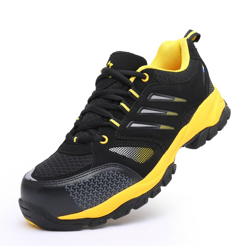 men fashion big size breathable steel toe caps work safety shoes plate platform site tooling ankle boots zapatos hombre protect