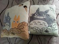 2PCS Factory Directly Sell STUDIO GHIBLI My Neighbor Totoro Soft Stuffed Plush Cushion&Pillow 40cm x 40cm free shipping