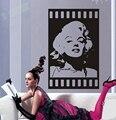 Envío gratis marilyn monroe tatuajes de pared de vinilo pegatinas room decor Estrella Poster Art Mural Room Decoración, P0000
