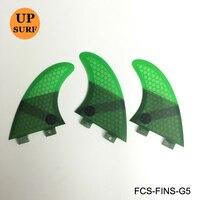 Upsurf Logo Fins FCS G5 Fins Green Black Red Blue Honeycomb Fibreglass Fins FCS Surfboard Fin
