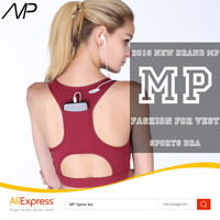2018 MP Hot Best Wirefree Racerback Sexy Sports Bra With Packet ,High Impact Workout Gym Active Yoga Bra