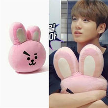Kpop Hot Sale BTS Kim Tae Hyung V Jung Kook Rabbit Cooky Pillow Cushion Plush Toy Stuffed Doll Fanmade Collection Z7120207