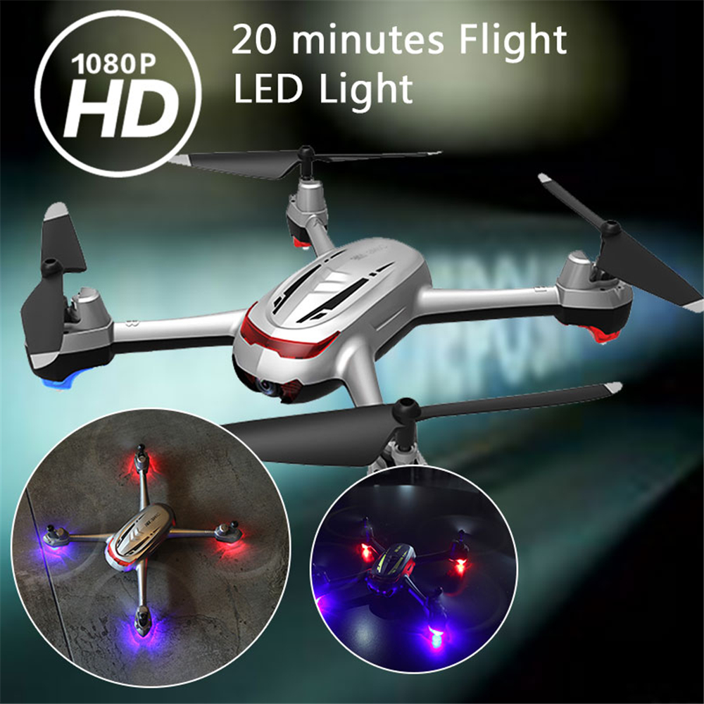 lensoul RC Drone UAV 20min One Key Take Off LED Lighting 1080P HD Camera 360 Degrees Rolling Speed Adjustable Quadcopter Gift