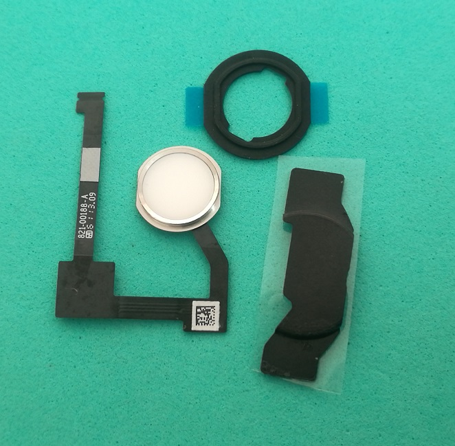 5set 1set Home Button Flex Cable Assembly + Home Key Rubber Gasket And Spacer Holder For IPad 6 Air 2 A1566 A1567 With Tracking