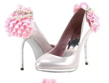 Lovely Pink Color Bridal Shoes women Dress Shoes  Wedding Dress Shoes Round Toe Imitation Pearl Popular women Shoes