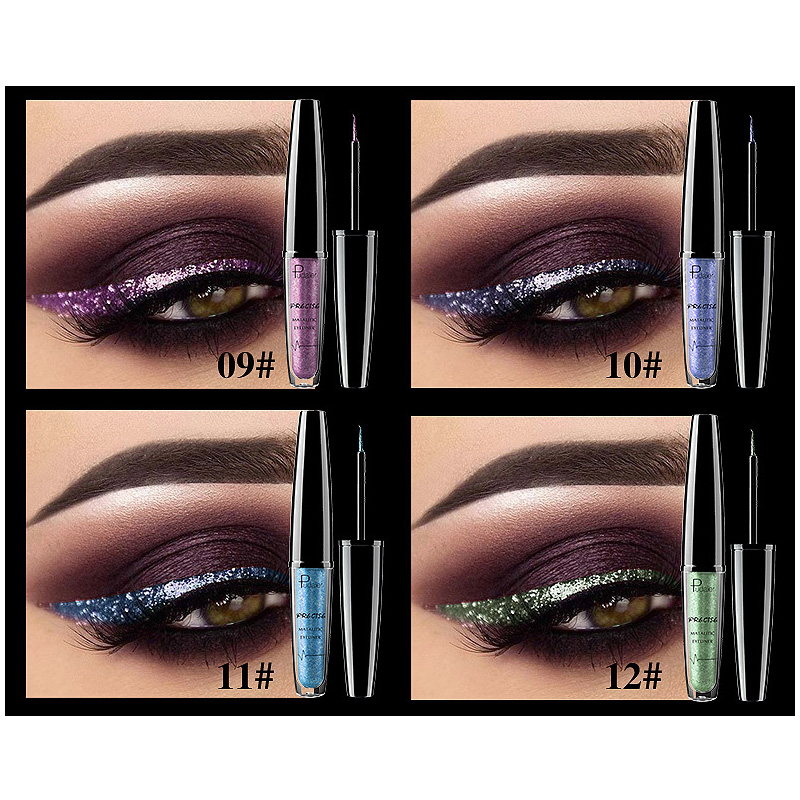Sale Grade Quick Dry Waterproof Sexy Metallic New Arrivals Makeup Products Shimmer Eyeliner Lasting Long 1PC 16Colors in Eyeliner from Beauty Health