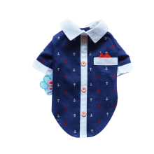 Ship Print Shirt Lapel Costume Canine Garments The Spring Pageant T-shirt Autumn Spring Clothes For Pet Canine Cat DC0141
