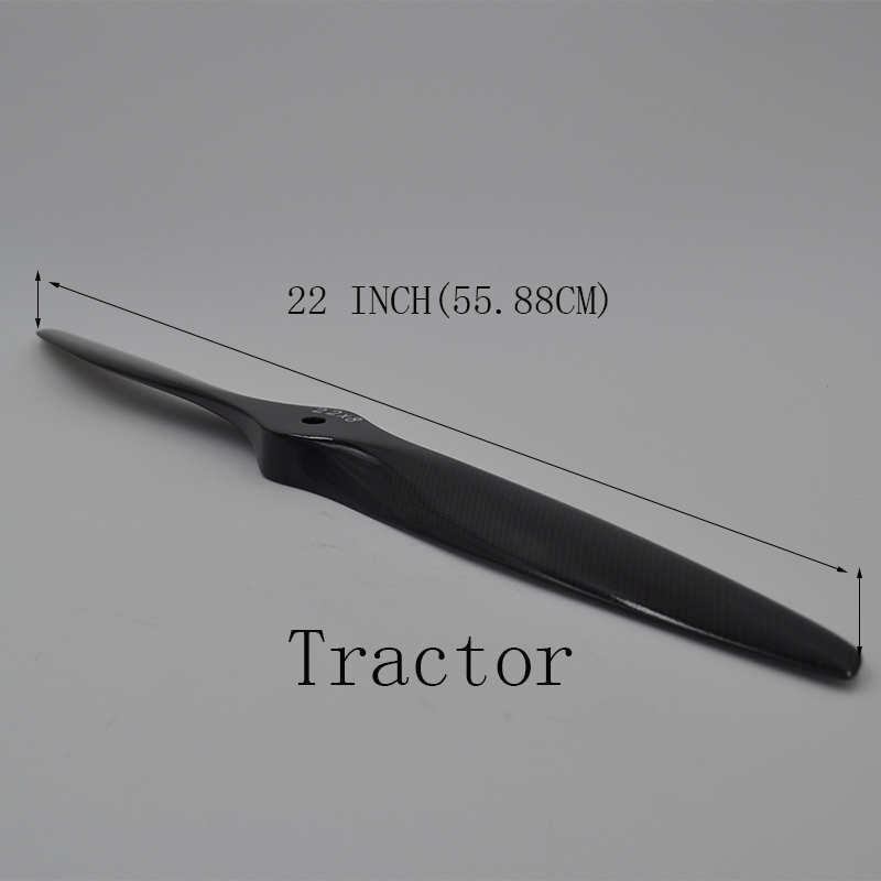 Radio Control Hobby 1 Piece 22*8 Inch Accessory Carbon Fiber Tractor Propeller Prop For RC Fixed Wing Gasoline Engine Airplane free shipping pure carbon fiber magnetic propeller balancer prop essential for quadcopter fpv helicopter airplane