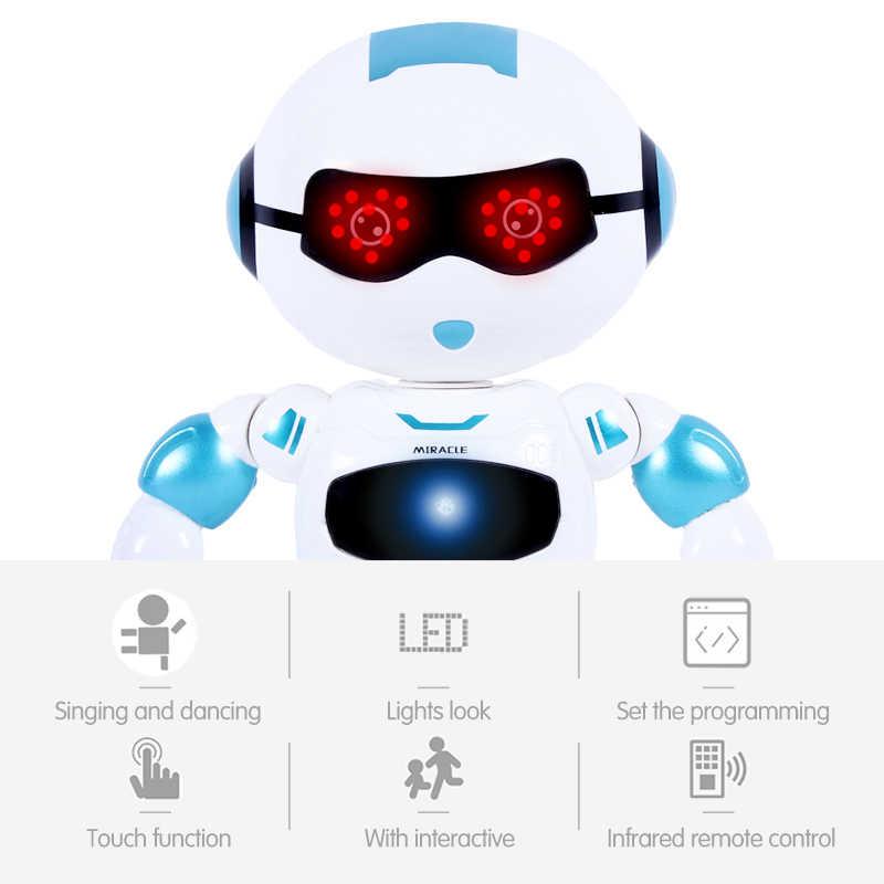 Cabeça engraçada função de detecção toque robô dança cantando figura ação controle rc robô brinquedo para meninos crianças presentes aniversário